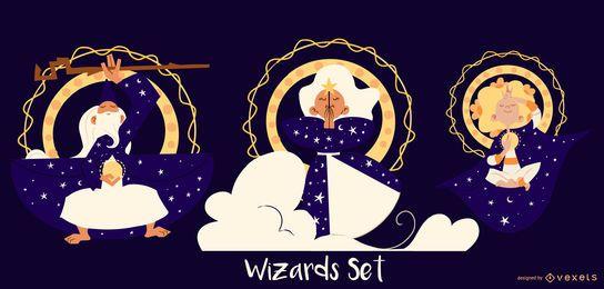 Conjunto de caracteres del mago