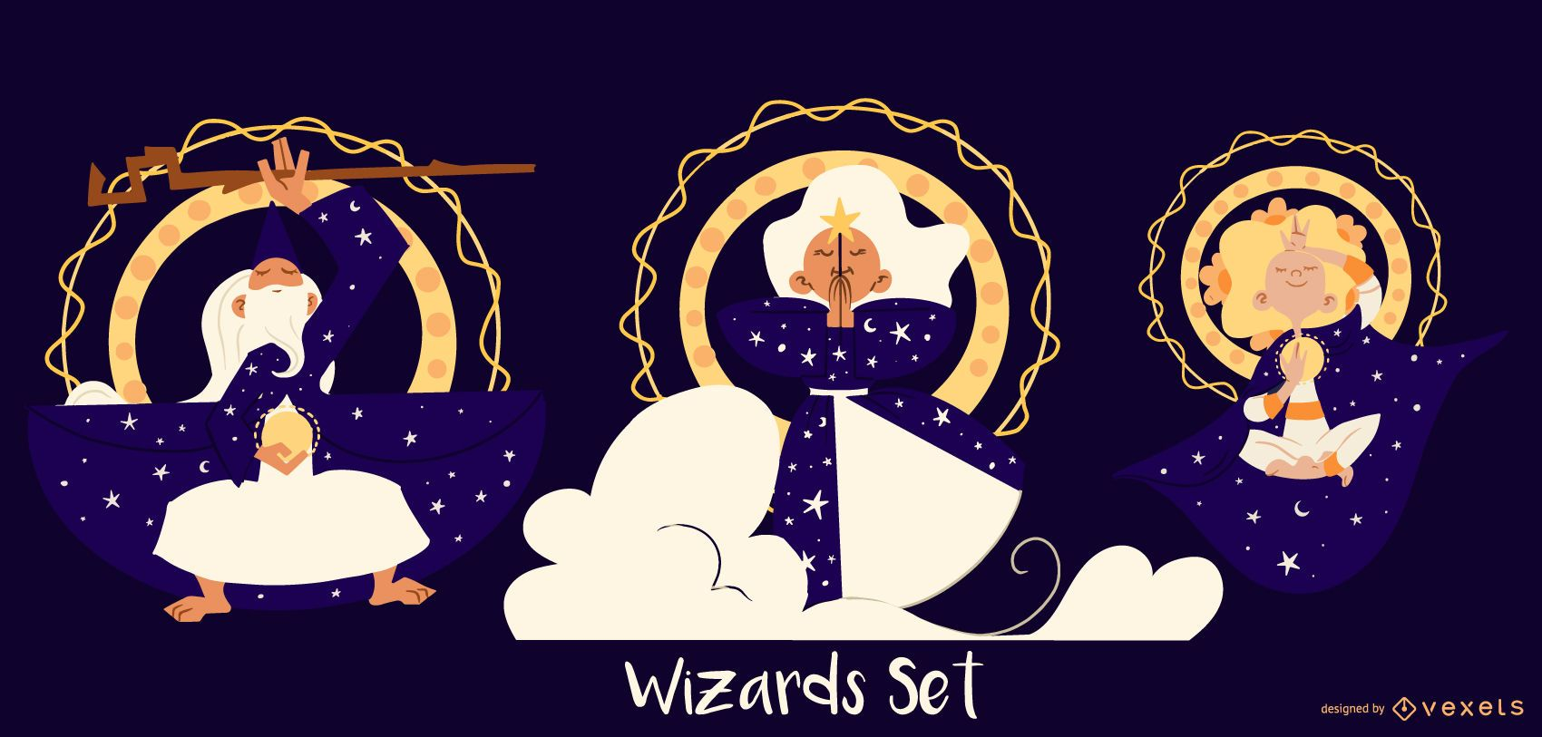 Wizard characters set