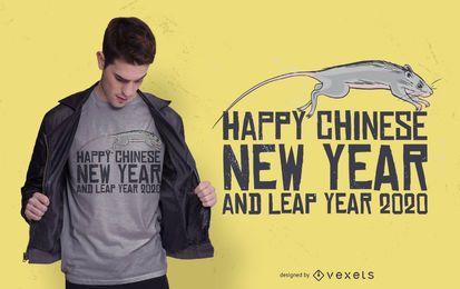 Chinesischer T-Shirt Entwurf des neuen Jahres