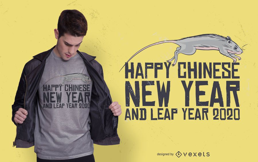 Design de t-shirt do ano novo chinês