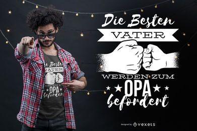 O melhor design alemão do t-shirt do pai