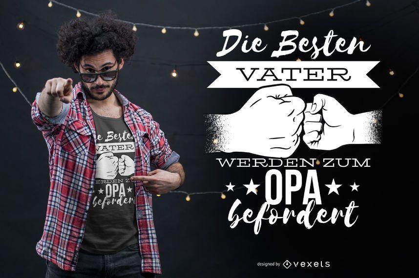 Bester Vater deutscher T-Shirt Entwurf