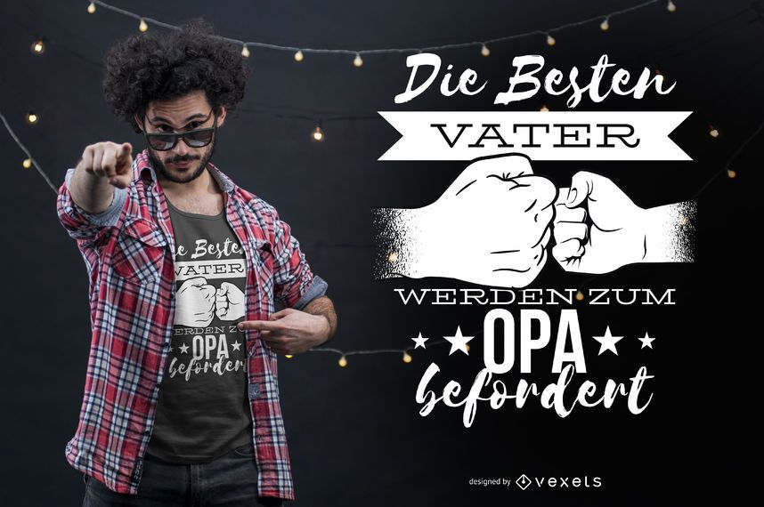 Mejor diseño de camiseta de padre alemán