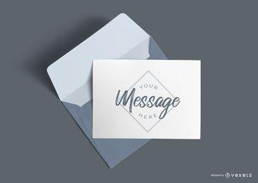 Maquete de carta e envelope