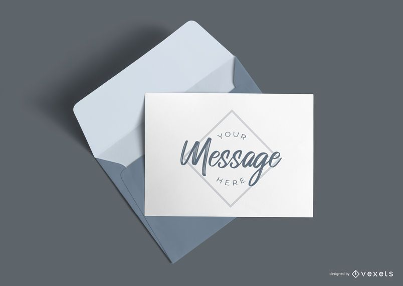 Letter and envelope mockup