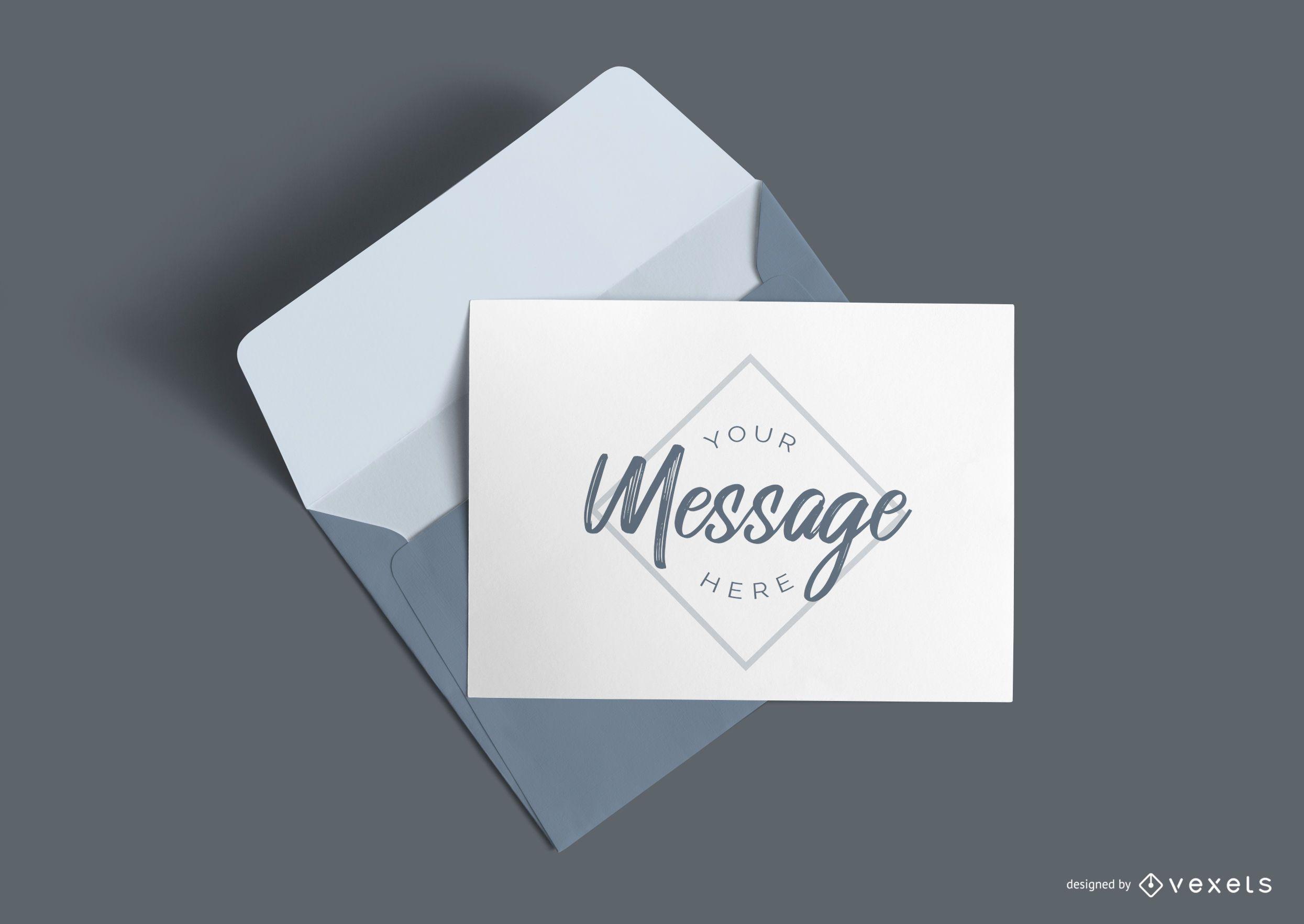 Letter and envelope mockup