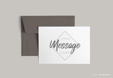 Letter with envelope mockup