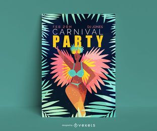 Karneval Party Editable Poster Design