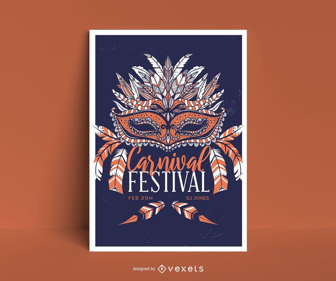 Carnival Mask Poster Design