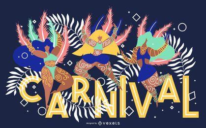 Karneval künstlerische Banner Design