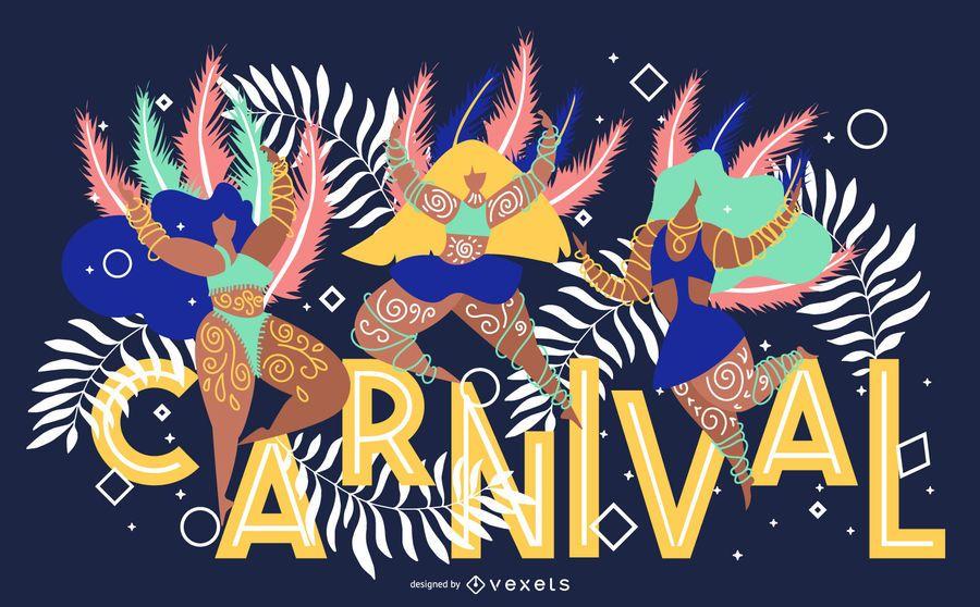 Diseño de banner artístico de carnaval