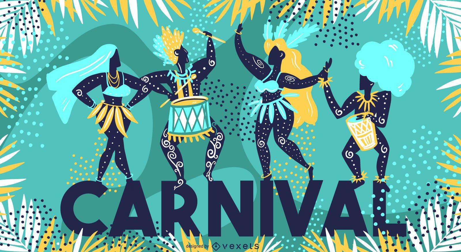 Diseño de ilustración de temporada de carnaval