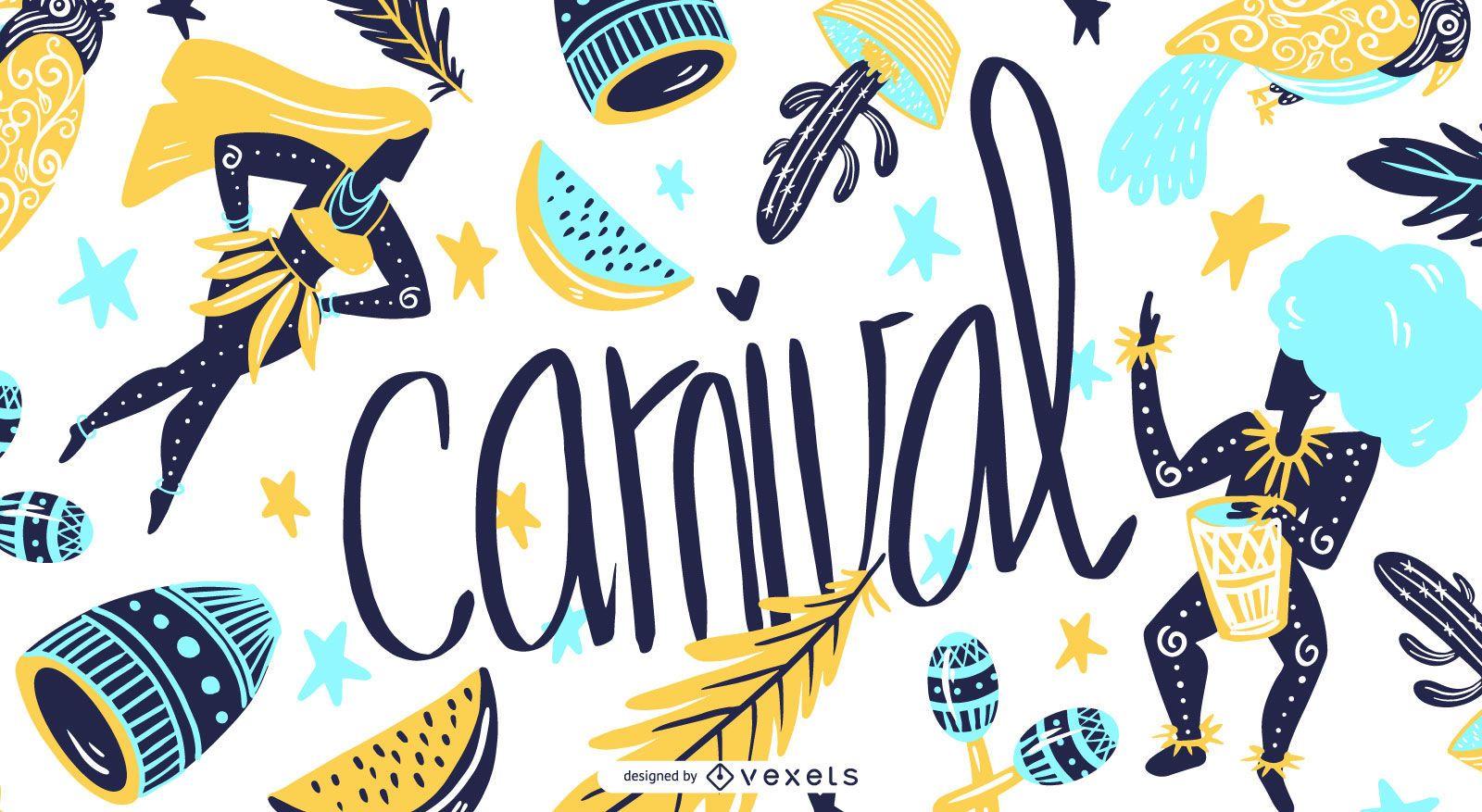 Carnival Seasonal Illustration Graphic