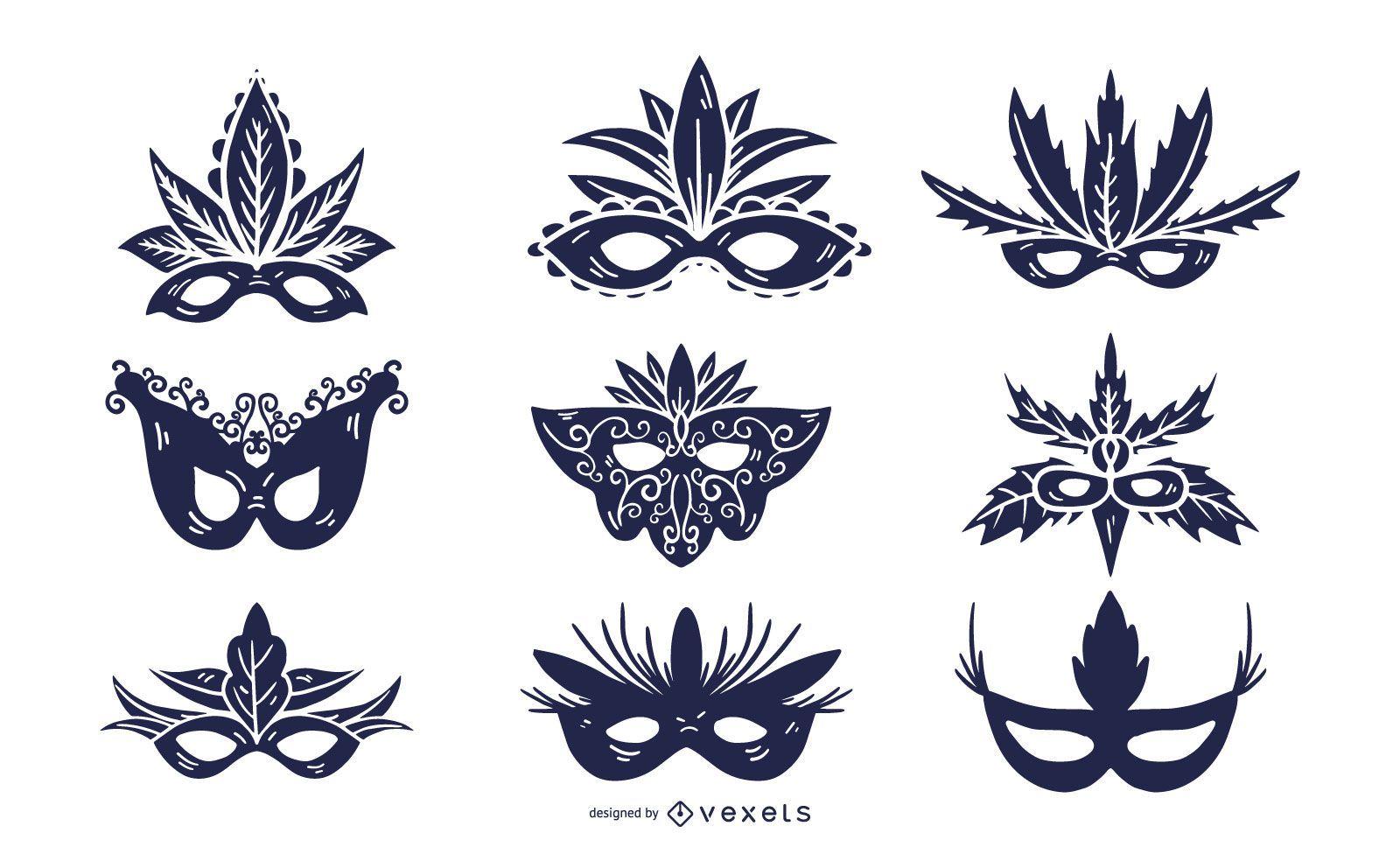 Paquete de relleno sólido de máscara de carnaval