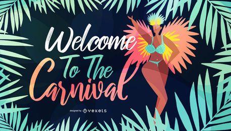 Bienvenido a Carnival Seasonal Illustration
