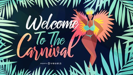 Welcome to Carnival Seasonal Illustration