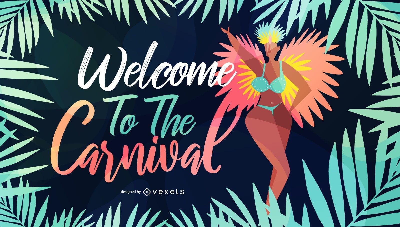Welcome to Carnival Seasonal Illustration