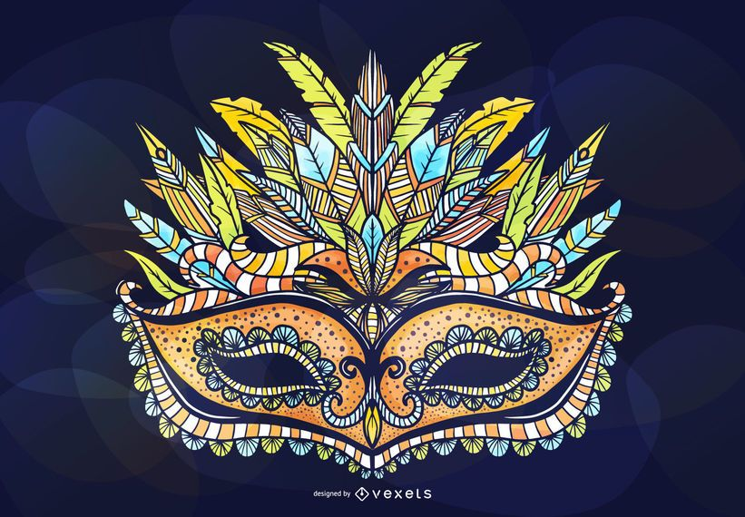 Masquerade Ornamental Mask Design