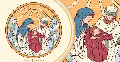 Projeto da ilustração da natividade de Jesus