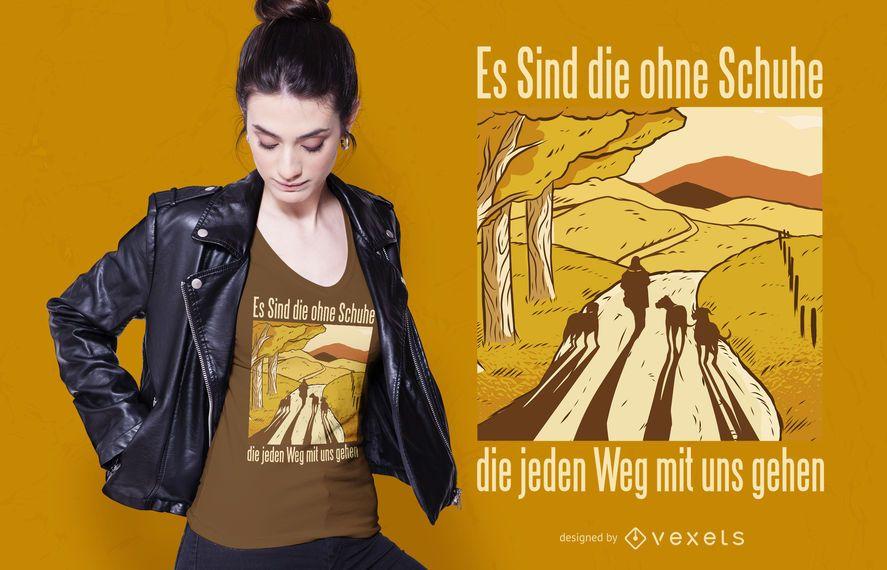 Design de t-shirt de citação alemão de cães