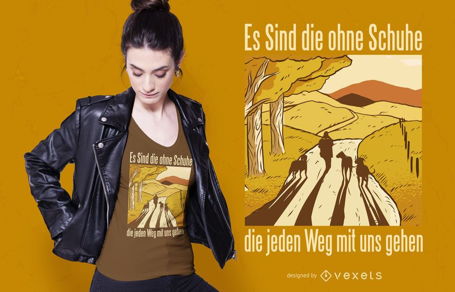 Dogs german quote t-shirt design