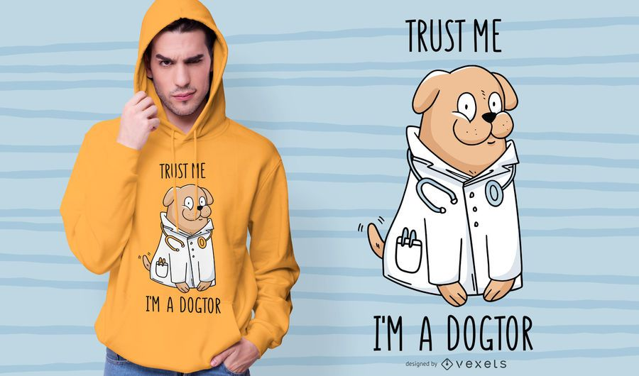 Doctor dog t-shirt design