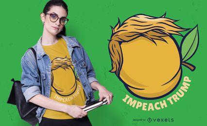 Diseño de camiseta Impeach Trump