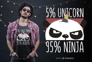 Design de camiseta Unicorn ninja