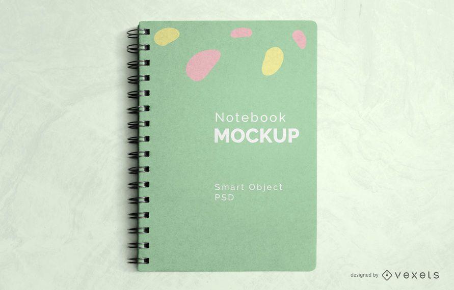 Maquete de caderno espiral psd