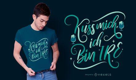St Patrick deutscher Zitat-T-Shirt Entwurf