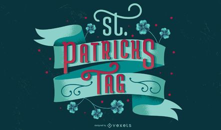 Deutscher Schriftzug zum St. Patrick's Day