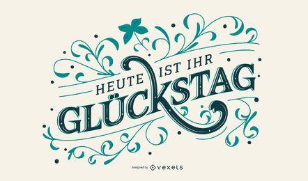 Diseño de letras alemanas de san patricio