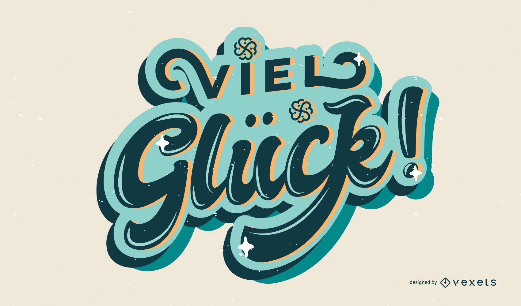 Good luck st patricks lettering