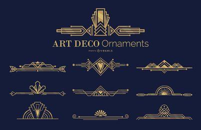 Art deco ornaments set