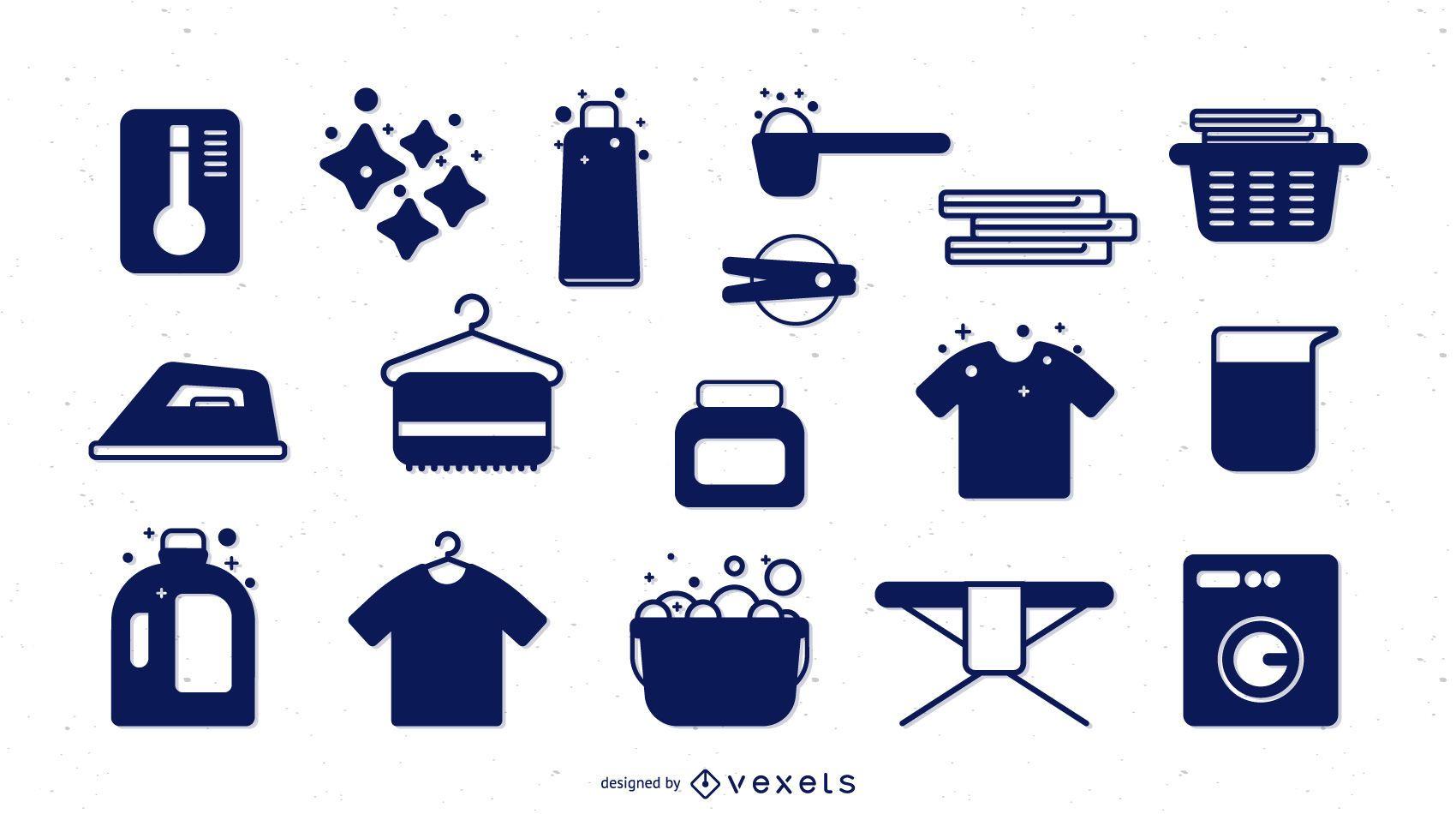 Colección de elementos de lavandería