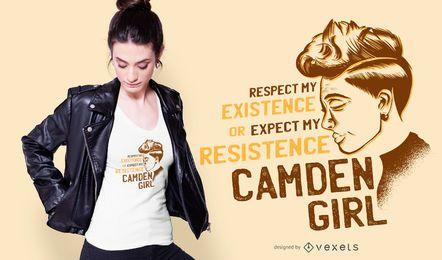 Camden-Mädchen-Zitat-T-Shirt Entwurf