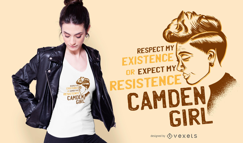 Diseño de camiseta Camden Girl Quote