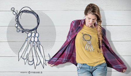 Diseño de camiseta con collar adornado