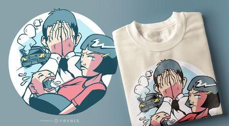 Design de camiseta de família ruim