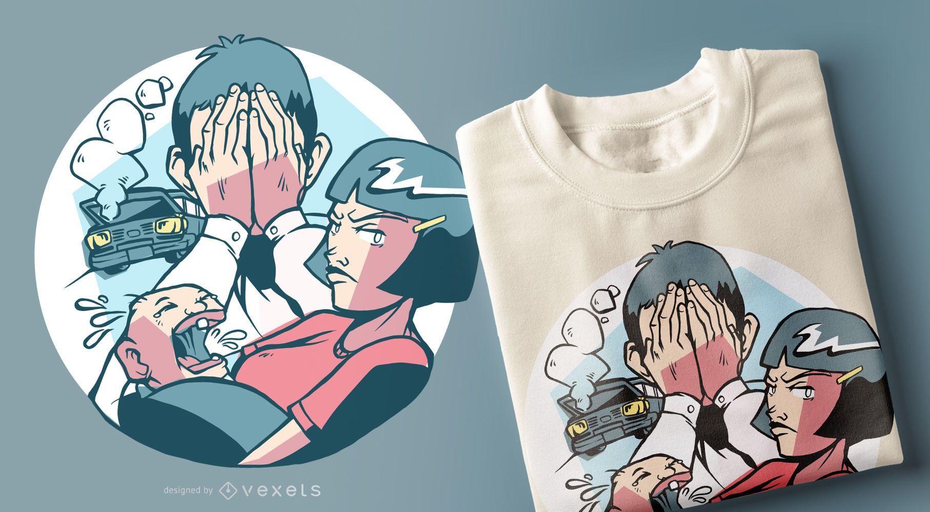 Diseño de camiseta Bad Family