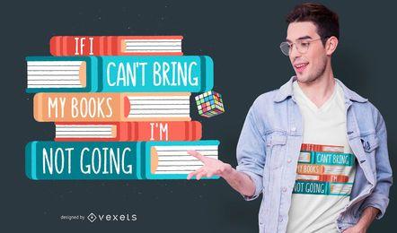 Buch-Feiertags-Zitat-T-Shirt Entwurf