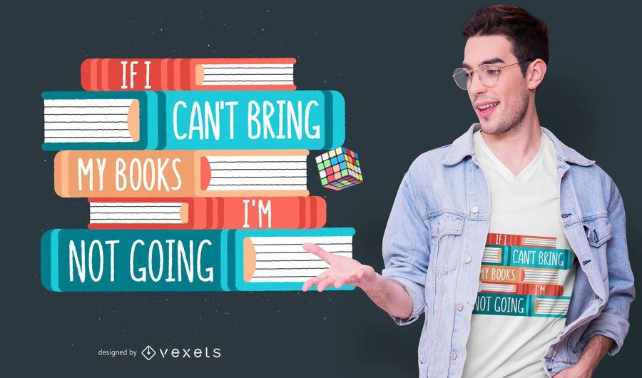 Design de t-shirt de citação de férias de livro