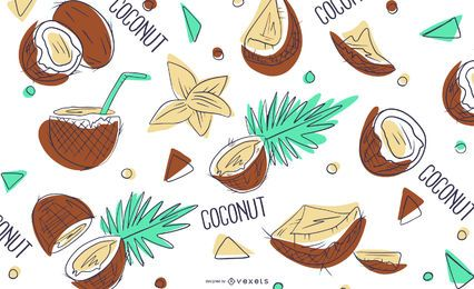Coconut pattern design