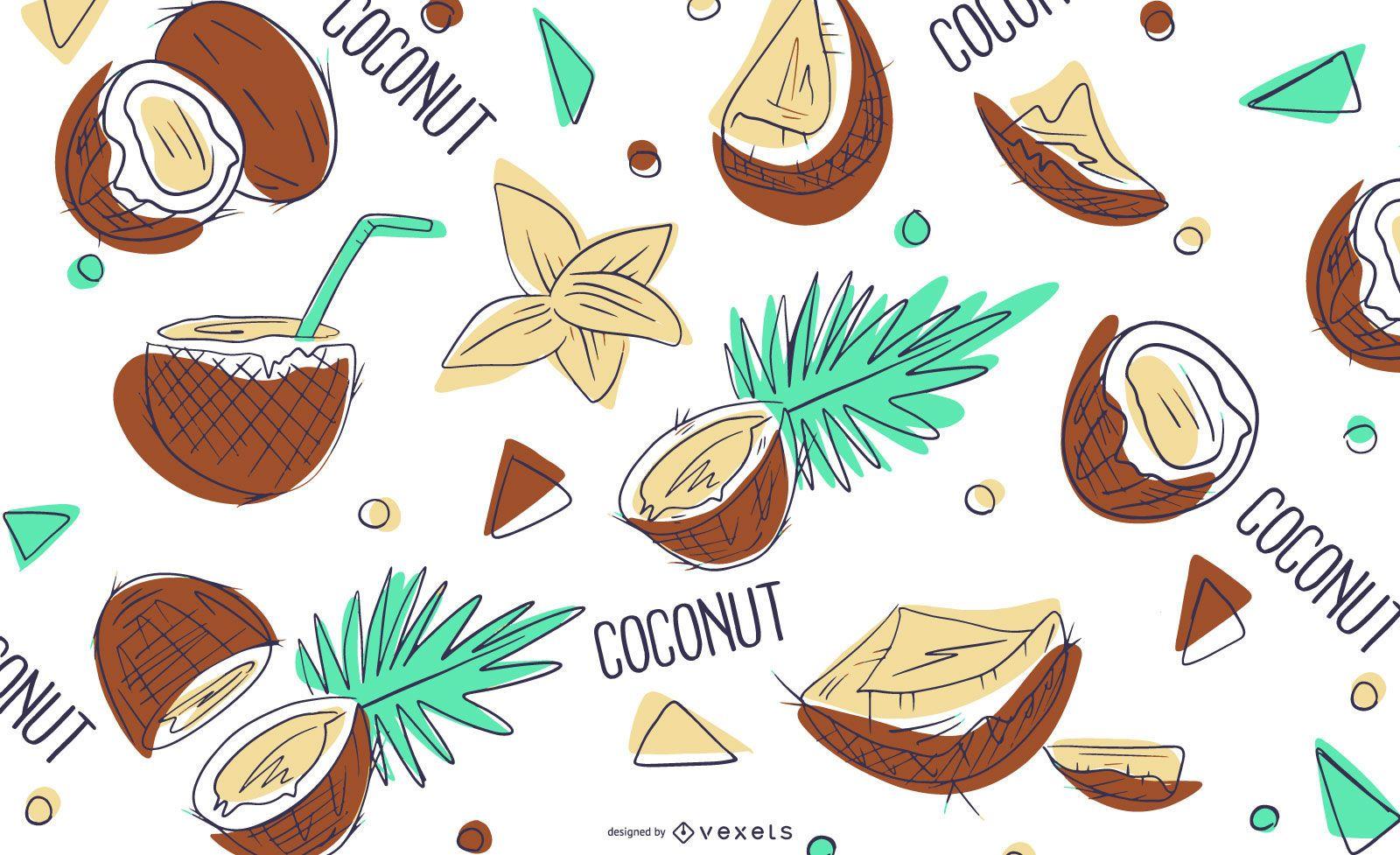 Diseño de patrón de coco