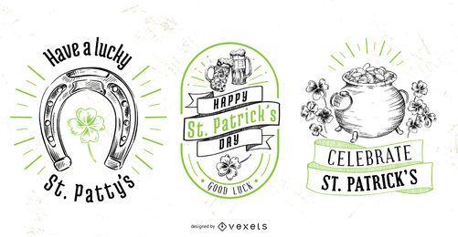 St. Patrick's Day Abzeichen gesetzt