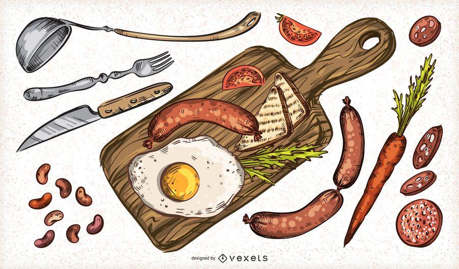Pacote de elemento de comida do dia de São Patrício