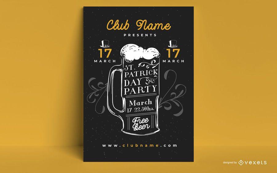 Cartaz de festa de cerveja de partículas st