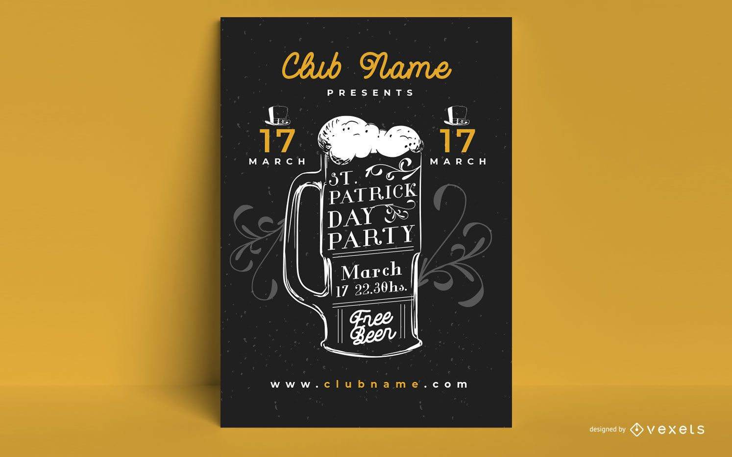 St particks beer party poster