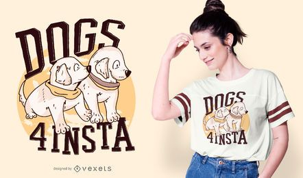 Design do t-shirt das citações dos cães de filhote de cachorro