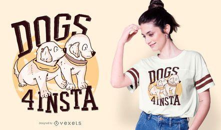Diseño de camiseta de cita de perros cachorros